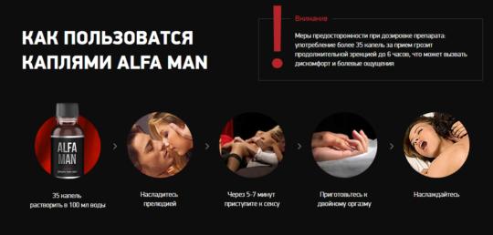 Как применять Alfa Man