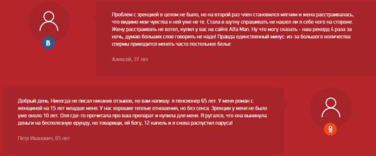 Отзывы о препарате Alfa Man
