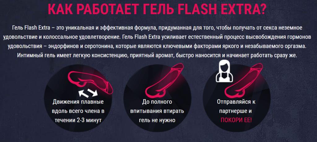 Как работает гель Flash Extra